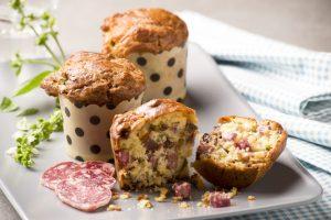 Recette de muffins au saucisson sec