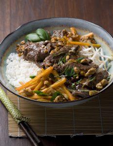 wok de bœuf au basilic