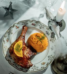 canard à l'orange en cocotte